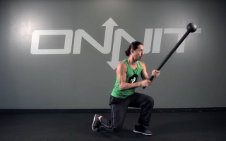 Bayonet Strike Squat Steel Mace Exercise