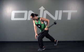 Split Stance Offset Side Row Steel Mace Exercise