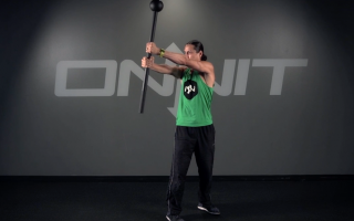 Double Narrow Side Press Steel Mace Exercise