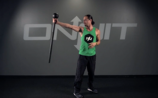 Alternating Single Side Press Steel Mace Exercise