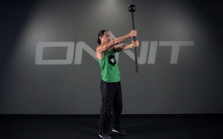 Double Narrow Press Steel Mace Exercise