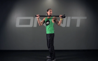 Rotating Reach Back Steel Mace Exercise