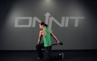 Lateral Arc Lunge Steel Mace Exercise