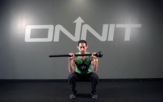Sphere Near Front Load Squat Steel Mace Exercise