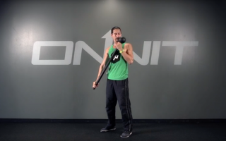 Extended Shoulder Curl Steel Mace Exercise