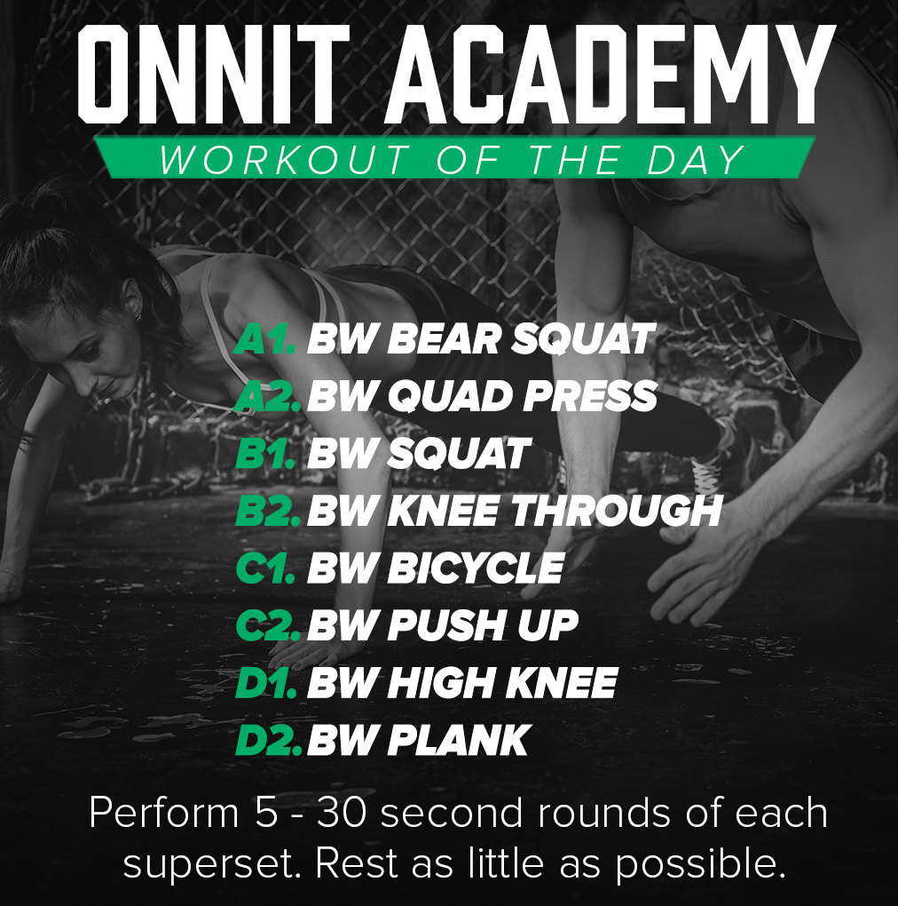 Onnit Academy Workout of The Day #19 - Bodyweight Workout