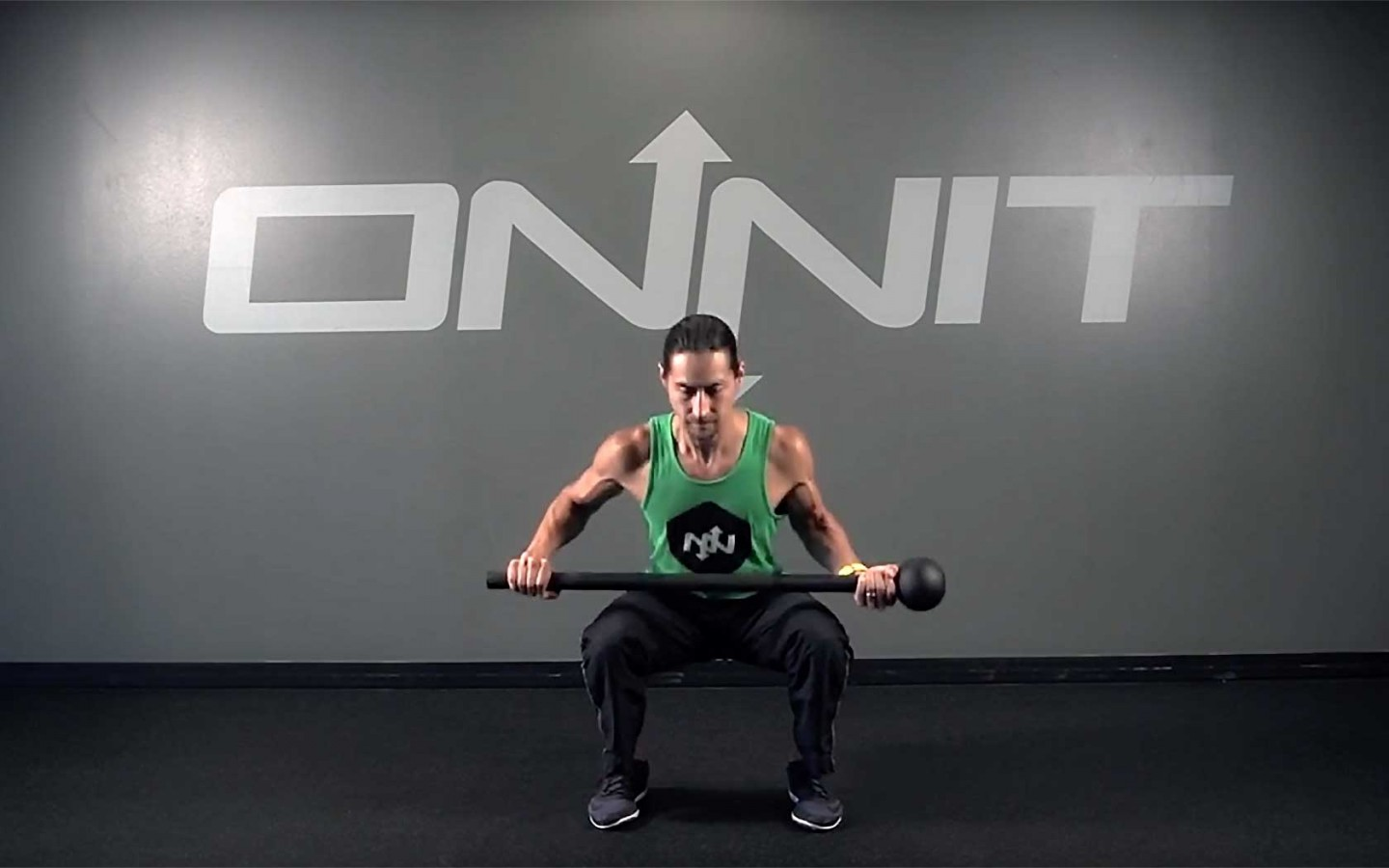 Switch Squat Steel Mace Exercise
