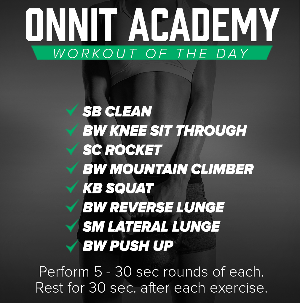 Onnit Academy Workout of the Day #32 - Mixed Implement Workout
