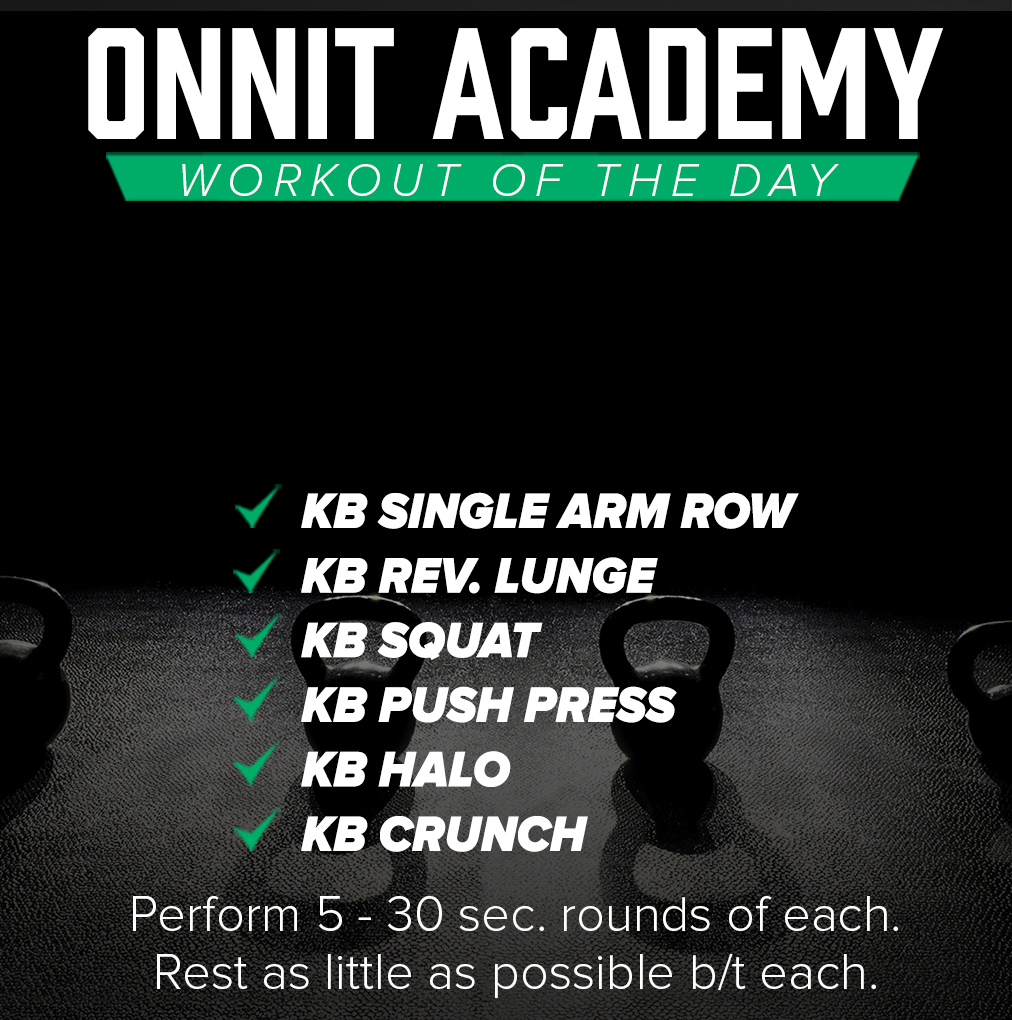 Onnit Academy Workout of the Day #37 - Kettlebell Workout