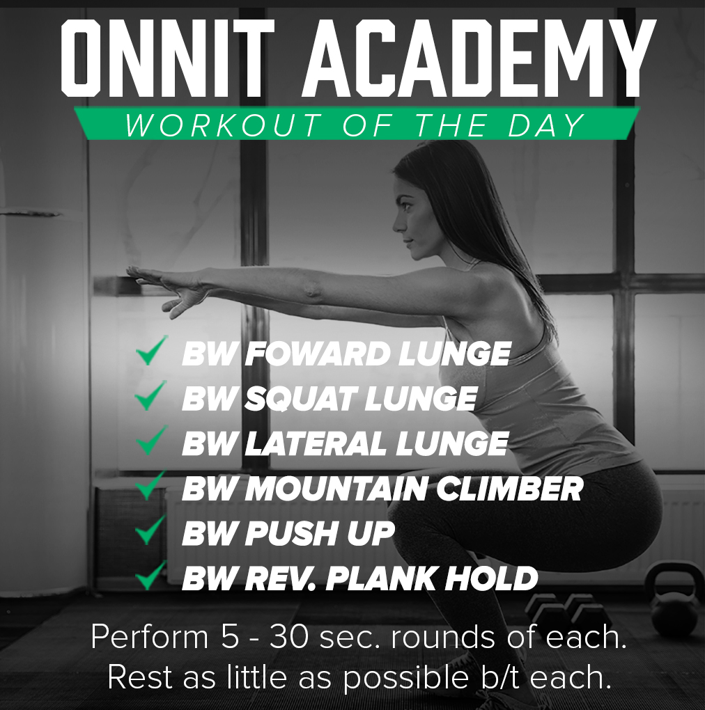 Onnit Academy Workout of the Day #38 - Bodyweight Workout
