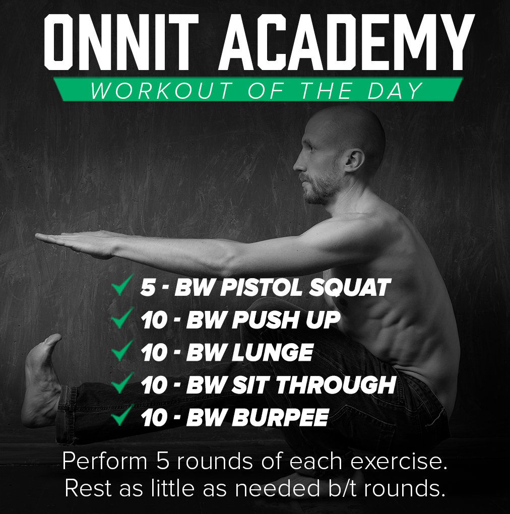 Onnit Academy Workout of the Day #44 - Bodyweight Workout