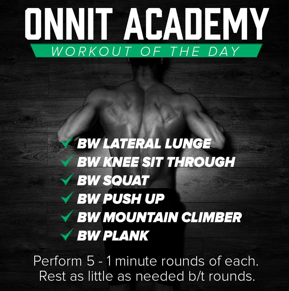 Onnit Academy Workout of the Day #31 – Bodyweight Workout