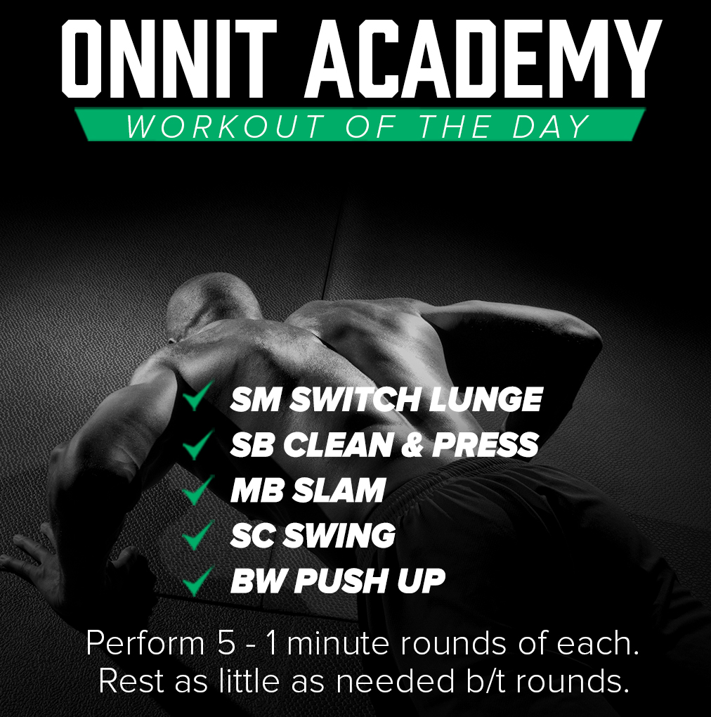 Onnit Academy Workout of The Day #23 - Steel Mace, Sandbag, Medicine Ball, Steel Club & Bodyweight Workout