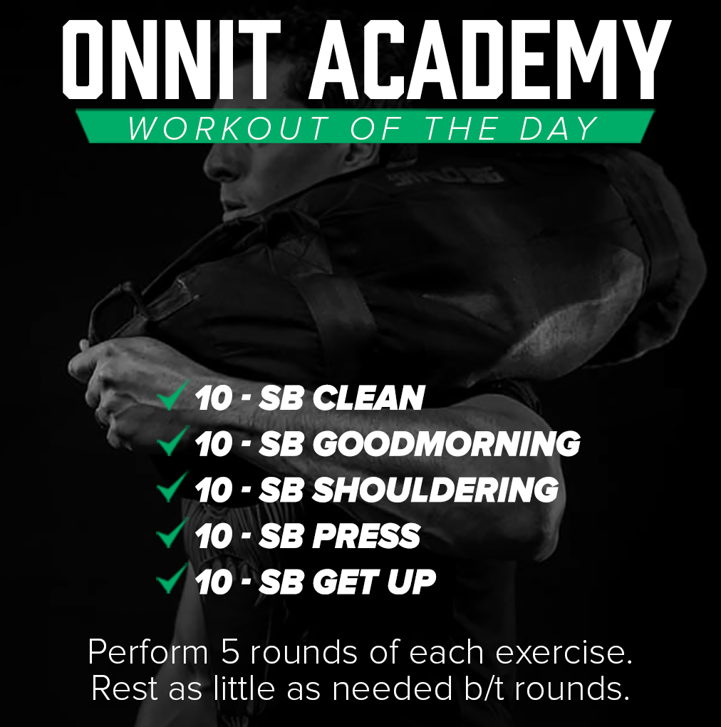 Onnit Academy Workout of the Day #42 - Sandbag Workout