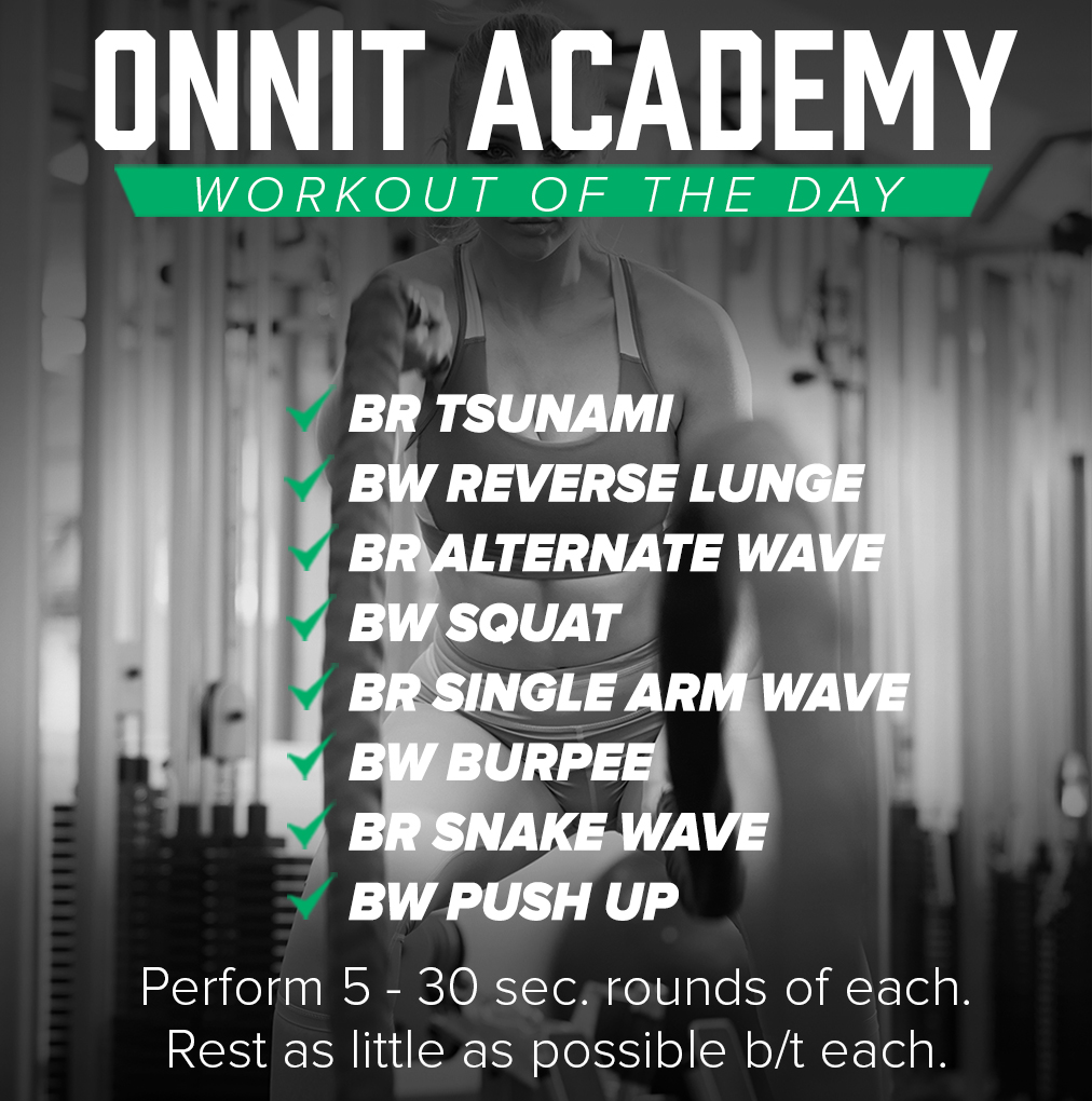 Onnit Academy Workout of the Day #39 - Battle Ropes Workout