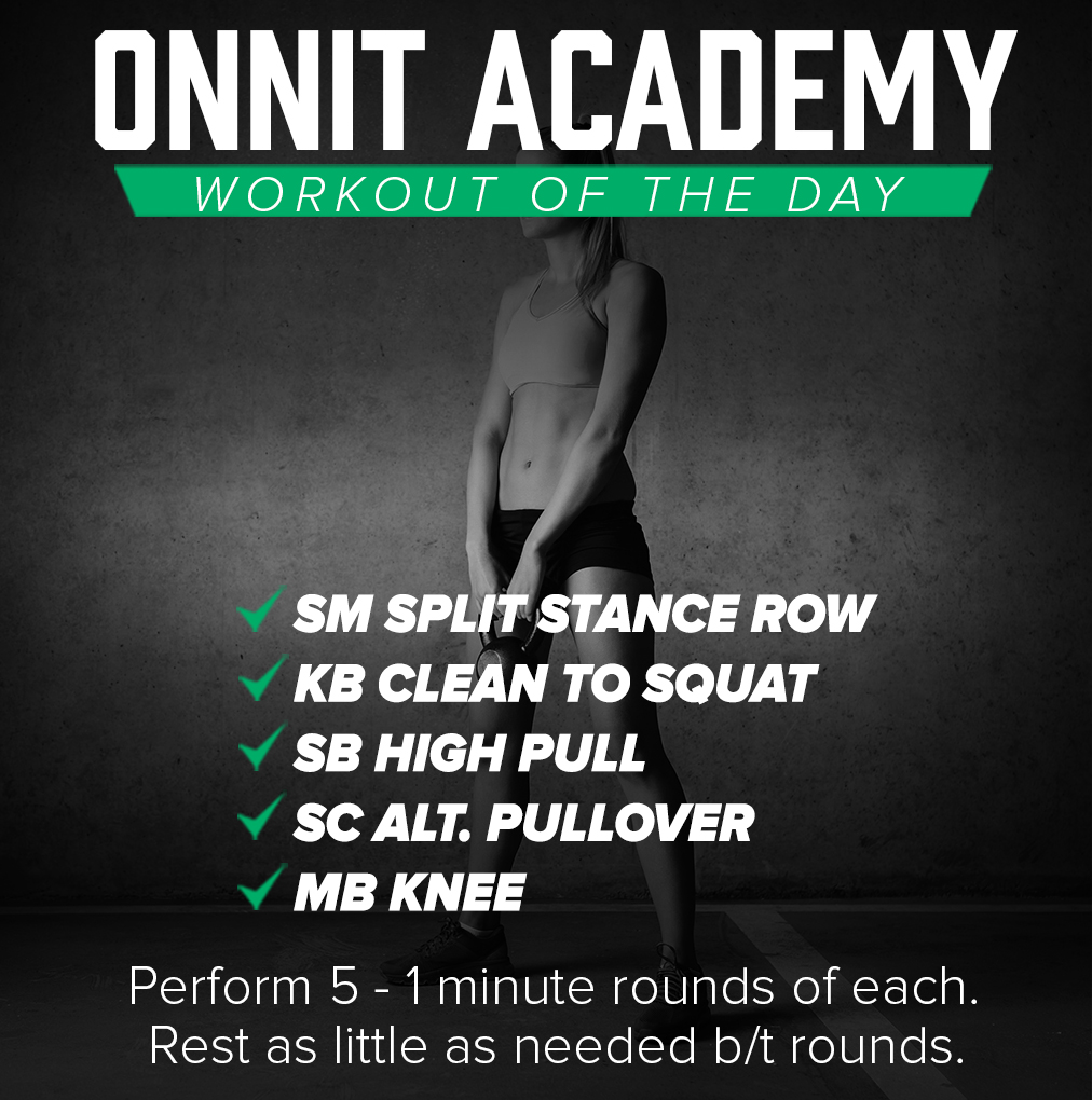 Onnit Academy Workout of the Day #35 - Mixed Implement Workout
