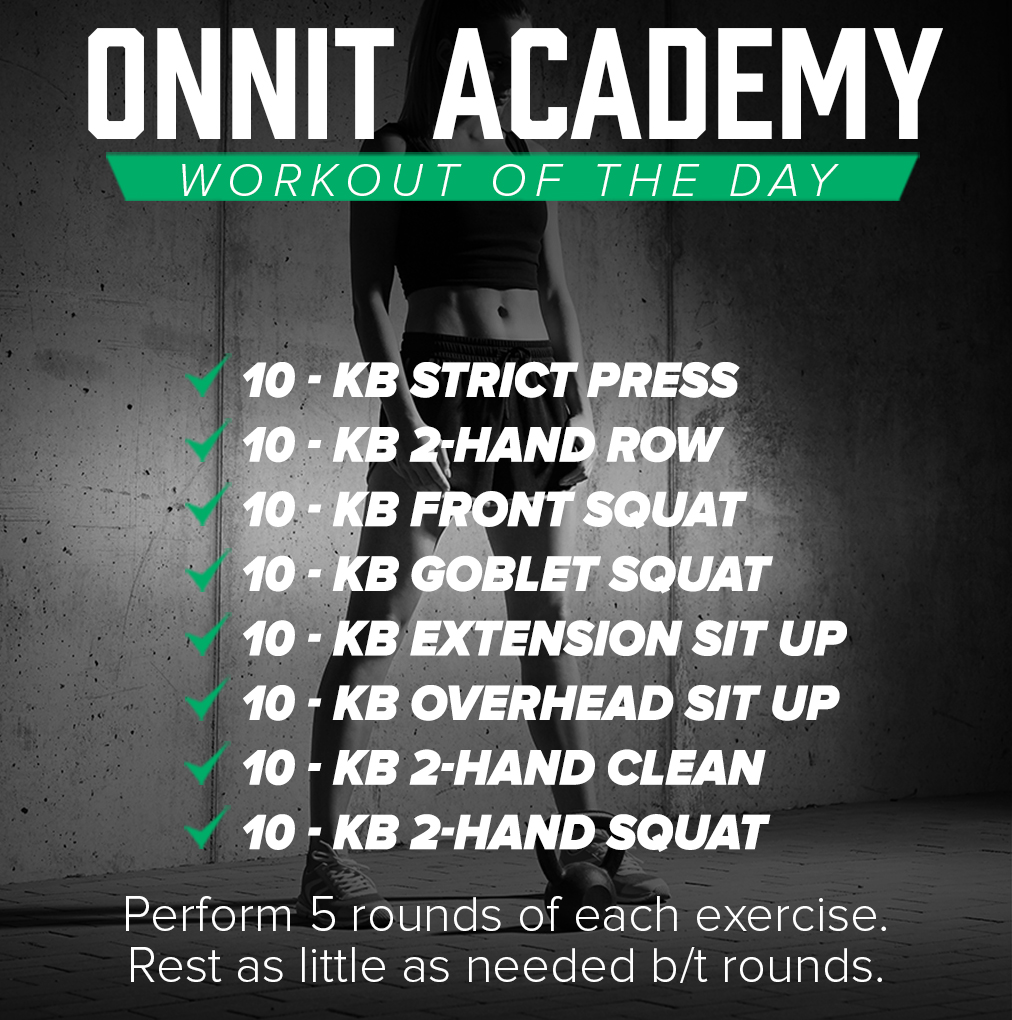 Onnit Academy Workout of the Day #43 - Kettlebell Workout
