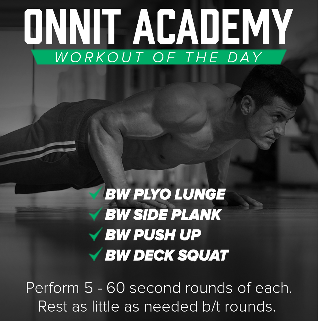 Onnit Academy Workout of the Day #46 - Bodyweight Workout