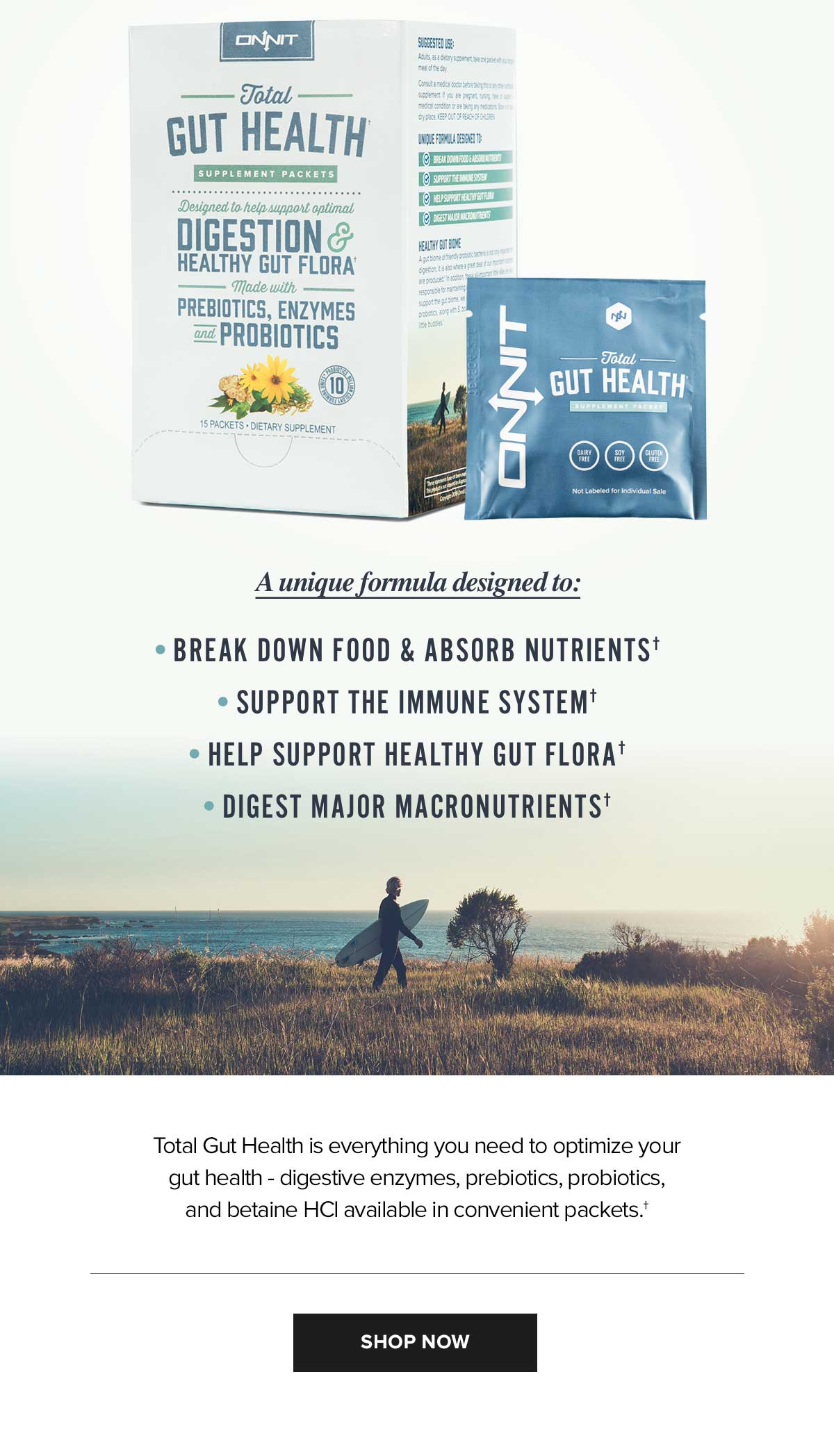 Introducing the Total Gut Health Supplement Packets