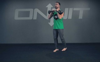 Double Racked Forward Back Lunge Exercise