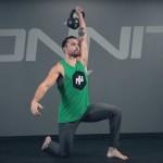 Half Kneeling One-Arm Kettlebell Press Exercise