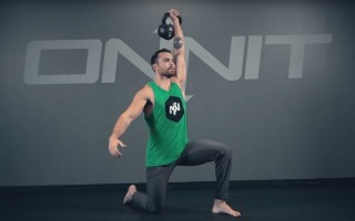 Half Kneeling One-Arm Kettlebell Press Exercise
