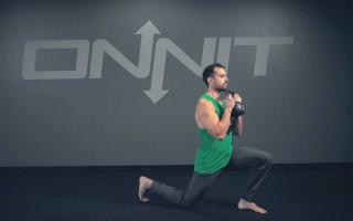 Kettlebell Goblet Forward Lunge Exercise
