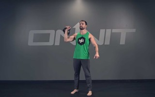 One Arm Kettlebell Press Exercise