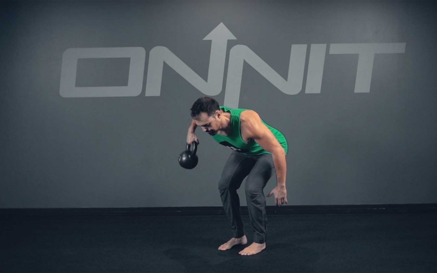 One Arm Bentover Kettlebell Side Row Exercise