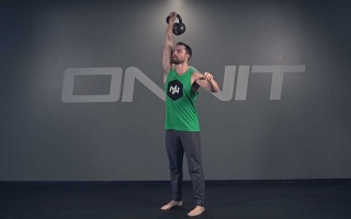 One Arm Kettlebell Push Press Exercise