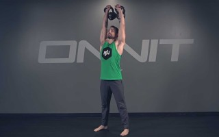 Double Kettlebell Overhead Press Exercise