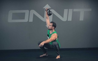 One Arm Kettlebell Sots Press Exercise