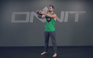 Two Hand Kettlebell Straight Press Exercise