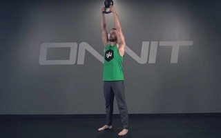 Two Hand Overhead Kettlebell Press Exercise