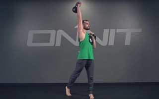 Double Rotational Kettlebell Press Exercise