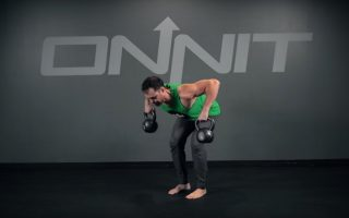 Double Kettlebell Bentover Wide Row Exercise