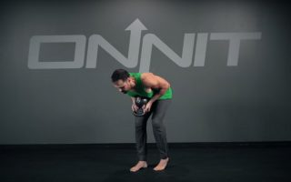 Kettlebell Staggered Stance Hip Hinge Exercise