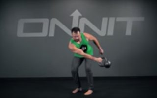 One Arm Kettlebell Side Swing Exercise