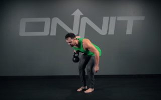 One Arm Bentover Kettlebell Row Exercise