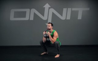 Kettlebell Swing to Goblet Squat Exercise