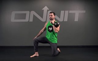 Half Kneeling One Arm Kettlebell Clean Exercise