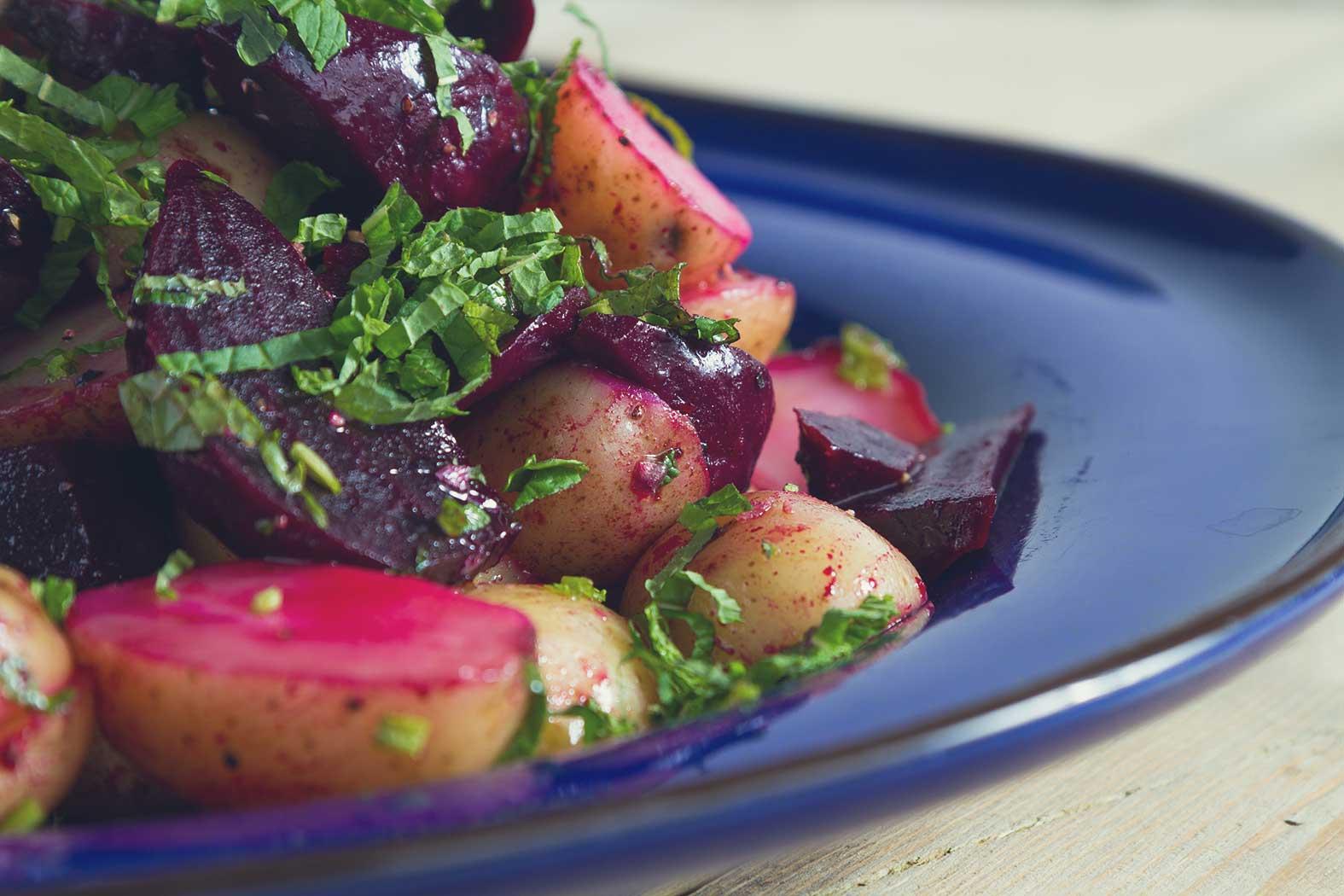 Lunch: Beet Potato Salad