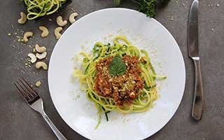 Paleo-Friendly Zucchini Noodles Recipe with Homemade Bison Marinara