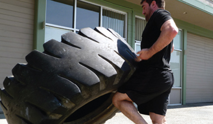 Tractor tires for flipping