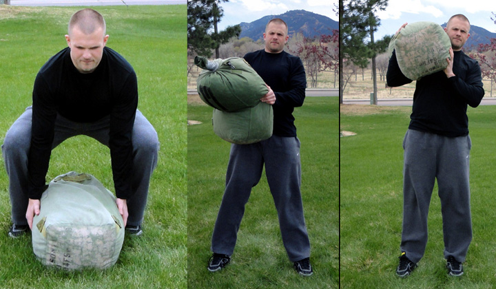 Sandbag Shoulder Clean