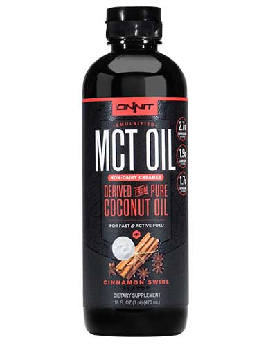 Onnit Cinnamon Swirl Emulsified MCT Oil.