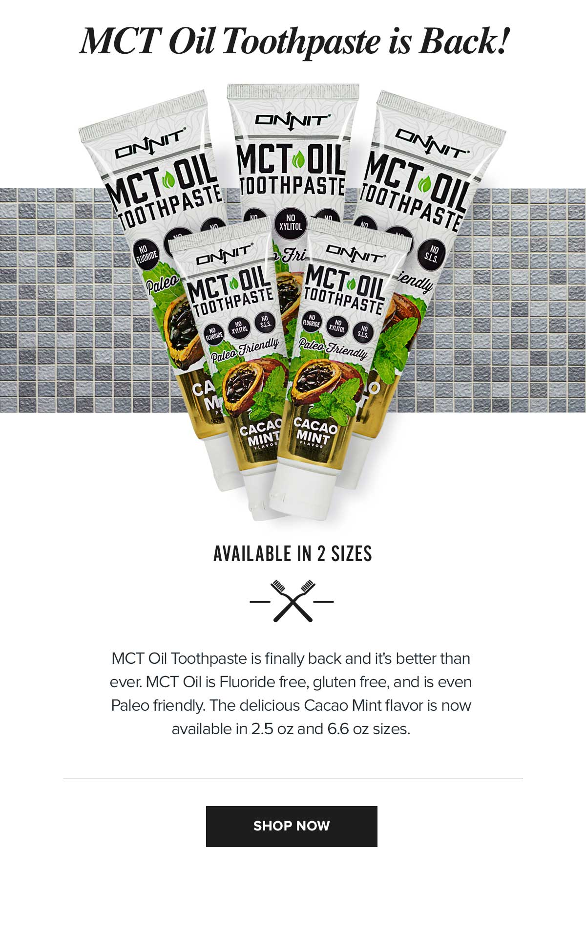 Onnit MCT Oil Toothpaste