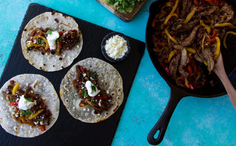 DINNER Elk Recipes: Elk & Steak Fajitas