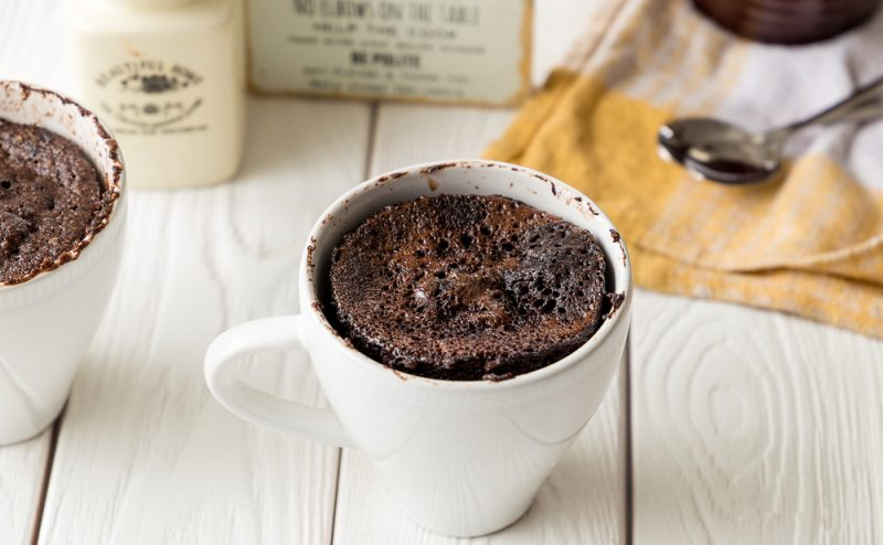 Keto Chocolate Hazelnut Mug Cake